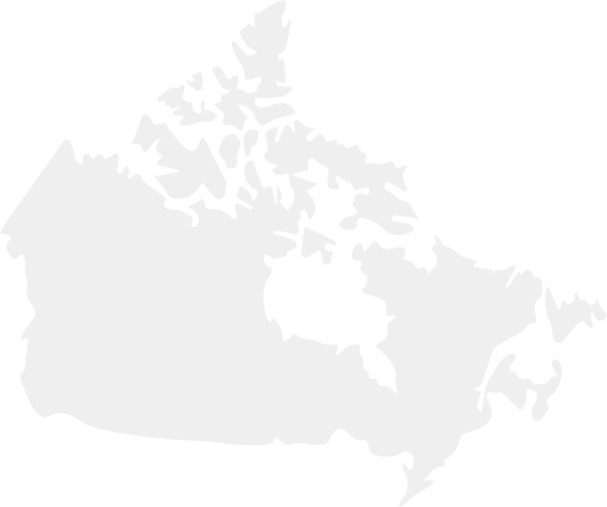 Silhouette of a map of Canada
